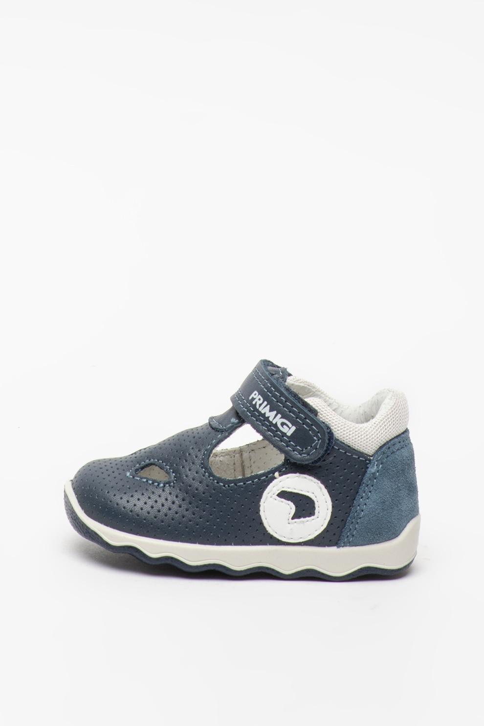 panorama superficial alabanza  Primigi, Pantofi de piele cu velcro si decupaje, Bleumarin, 19 EU - eMAG.ro