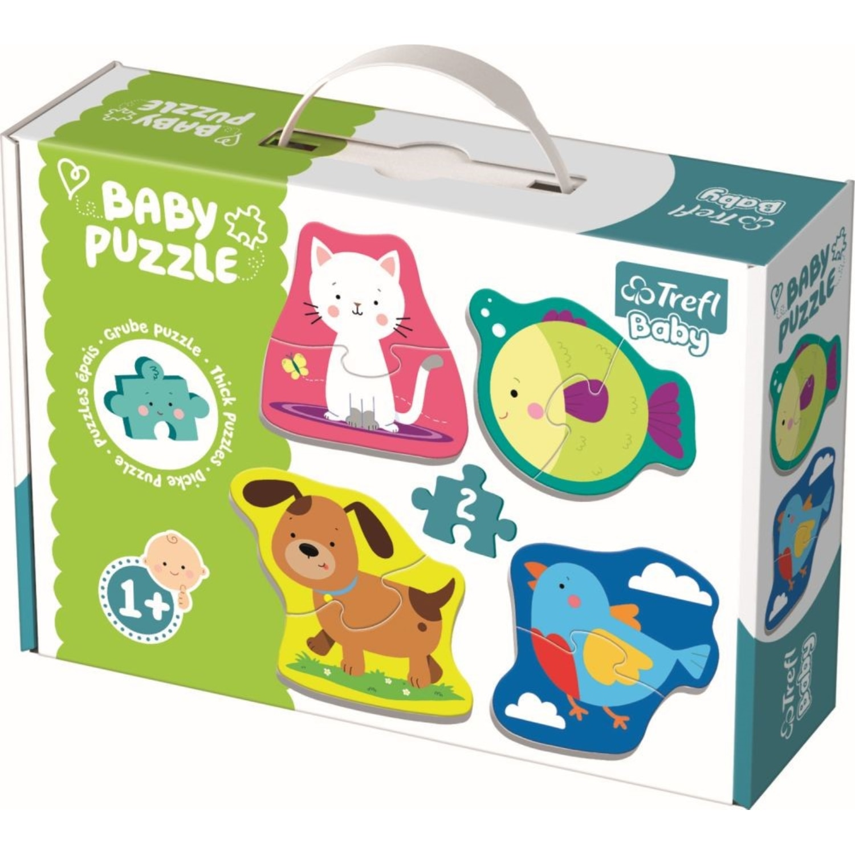 Fotografie Puzzle Trefl Baby - Animale, 4x2 piese