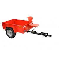Remorca pentru motosapa/motocultor Breckner R 120/140, dimensiuni 120/140 cm, sistem de franare si scaun operator, 50 kg