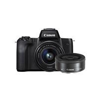 Фотоапарат Canon EOS M50 Mirrorless с обективи EF-M 15-45mm f/3.5-6.3 IS STM + EF-M 22mm f/2 STM , 24.0 MPx, WI-FI,Bluetooth, черен