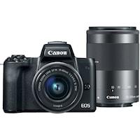 Фотоапарат Canon EOS M50 Mirrorless с обективи EF-M15-45mm + EF-M 55-200mm, 24.0 MPx, WI-FI, NFC, Bluetooth, черен