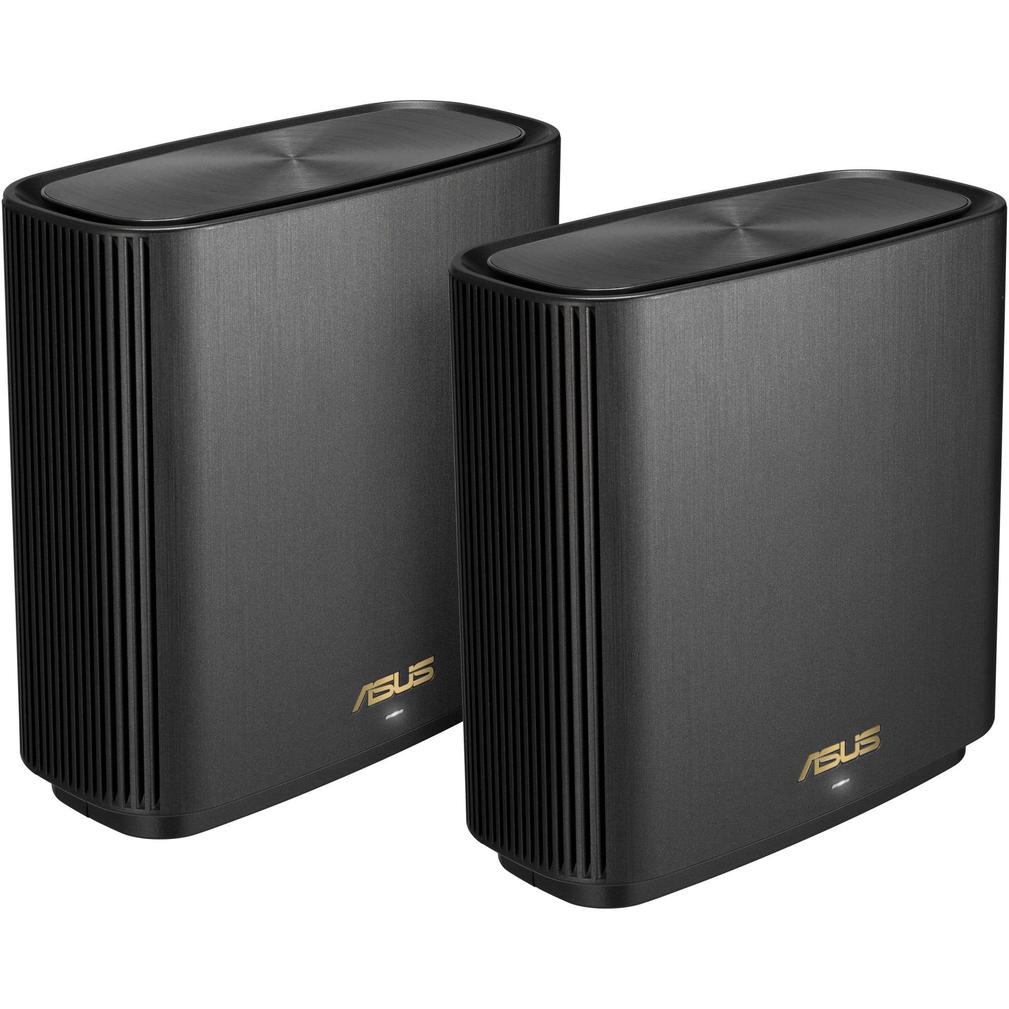 Fotografie Sistem Wi-Fi Mesh ASUS ZenWifi AX XT8, MU-MIMO, Black