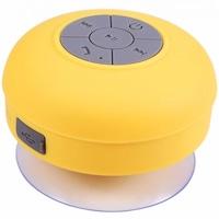 Boxa portabila rezistenta la apa elSales Shower Speaker cu Bluetooth , microfon incorporat , ventuza de prindere , galben