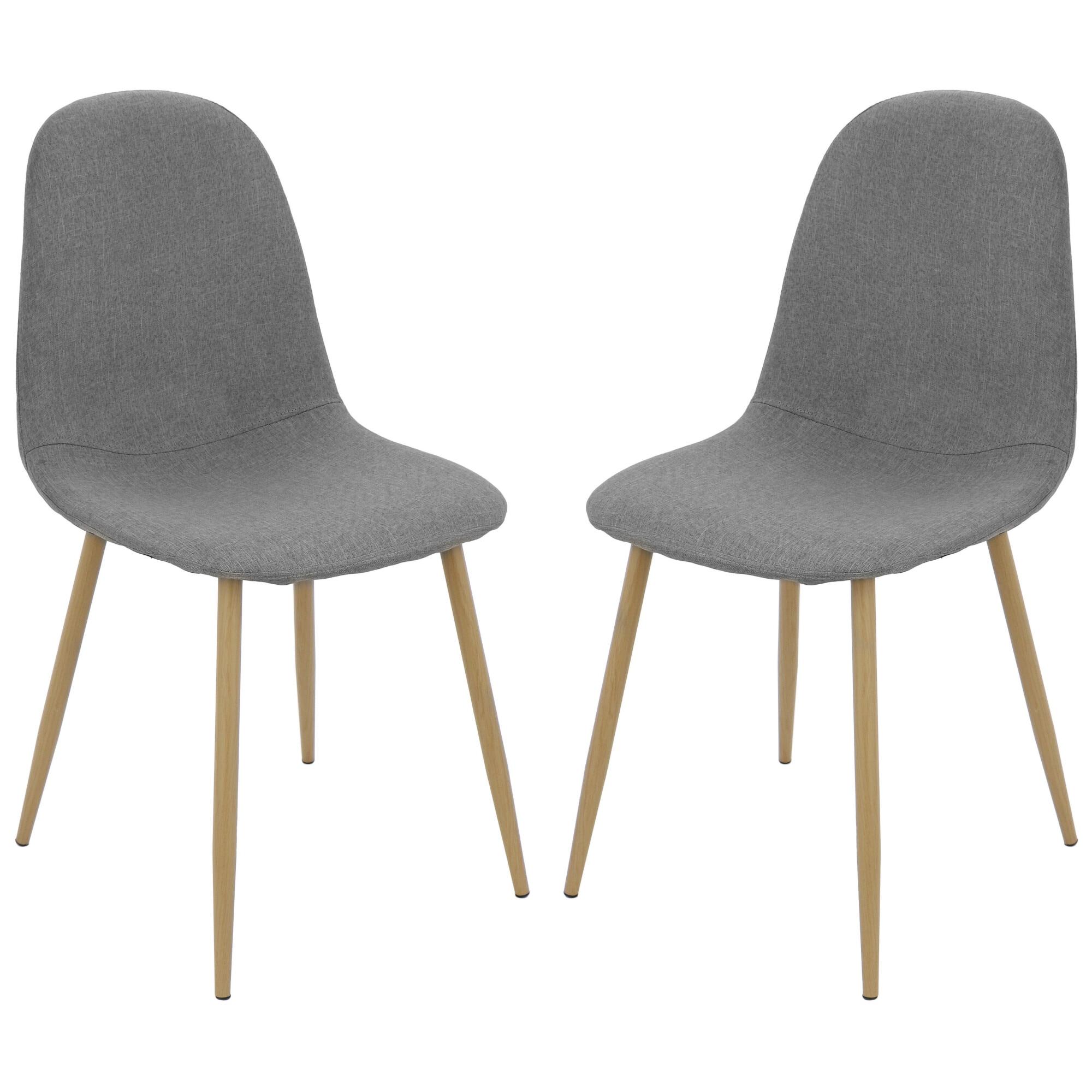 Fotografie Set 2 scaune Kring Panama, material textil, Gri
