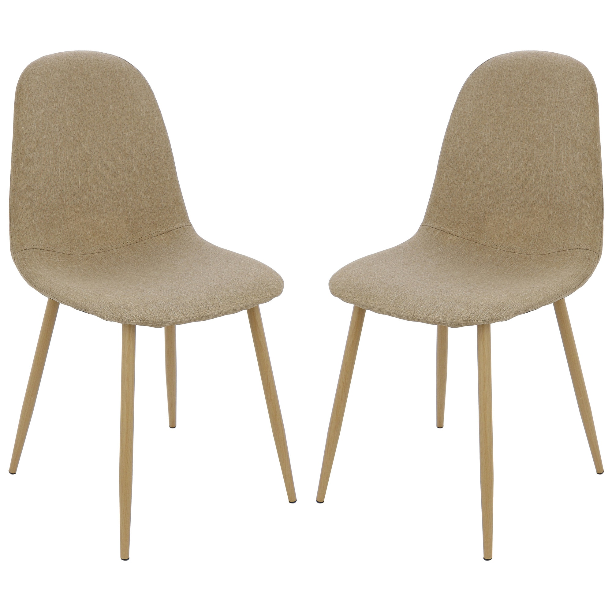 Fotografie Set 2 scaune Kring Panama, material textil, Bej