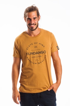 Fundango, Normál fazonú feliratos és logós póló, Mustársárga