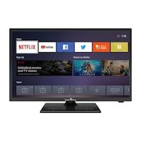 "Smart Tech SMT2419DHV1T1B1 HD LED TV, 24"" (59.9cm),Linux Smart TV,Quad Core, HDR 10,Dolby Audio, Wi-Fi,Netflix/YouTube/Prime Video"