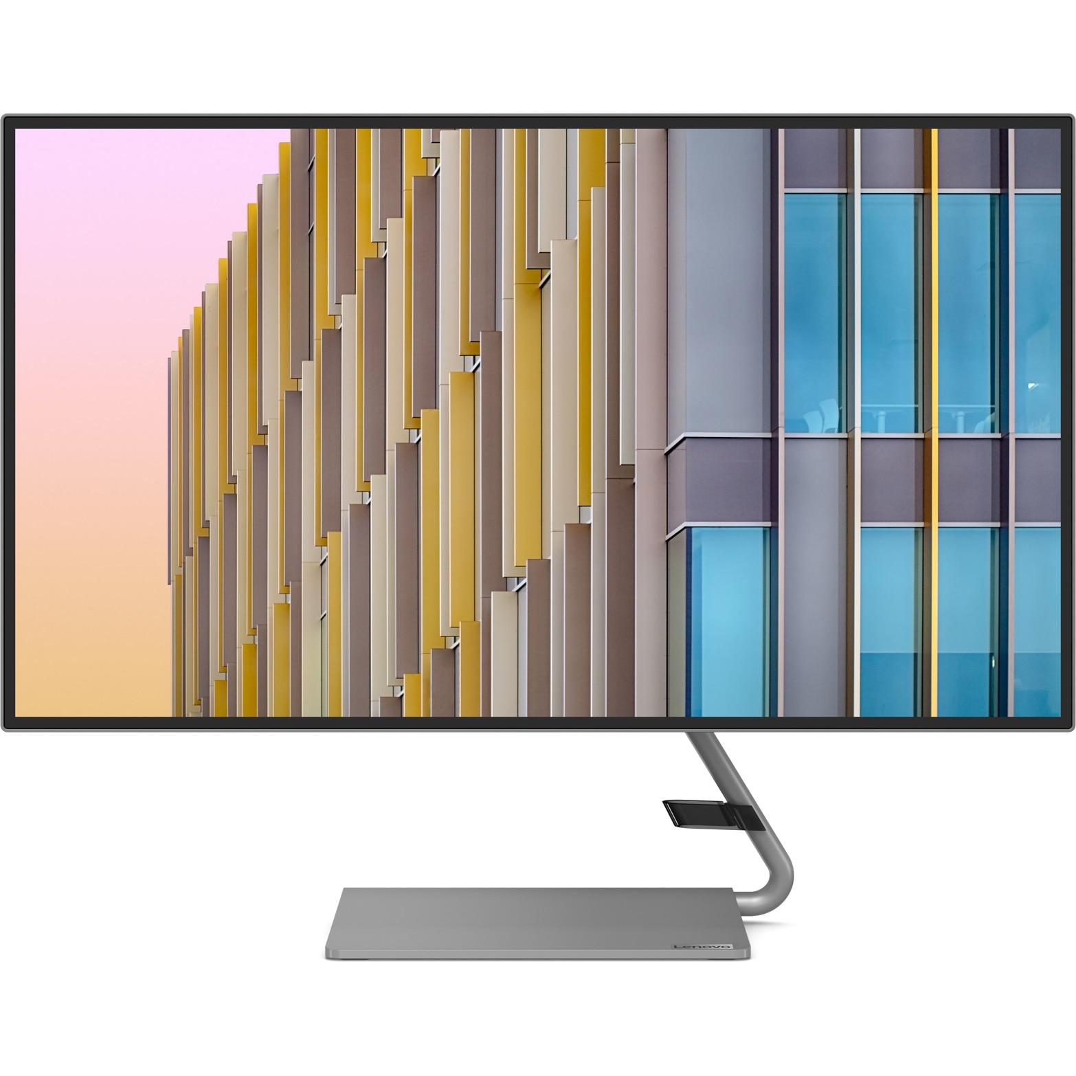 "Fotografie Monitor LED IPS Lenovo 27"", WQHD, Display Port, 75 Hz, 4 ms, DP+HDMI+USB Type-C 4-side borderless with speakers (2x 3W) - Raven Black / Iron Grey Stand, Q27h-10"