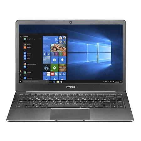 Лаптоп Prestigio Smartbook 141S с Intel Celeron N3350 (1.10/2.40GHz, 2M), 4 GB, 128 GB eMMC, Intel HD Graphics 500, Linux, графитеночерен