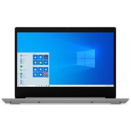 Лаптоп Lenovo IdeaPad 3 14IIL05 с Intel Core i7-1065G7 (1.30/3.90 GHz, 8M), 8 GB, 1TB M.2 NVMe SSD, Intel Iris Plus (Ice Lake), Без OS, сребрист