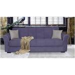 Разтегателен диван Modella Jade 235x80x85 см, Цвят сив антрацит, Бежов шев