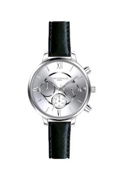 Annie Rosewood, Часовник с хронограф и кожена каишка, Черен
