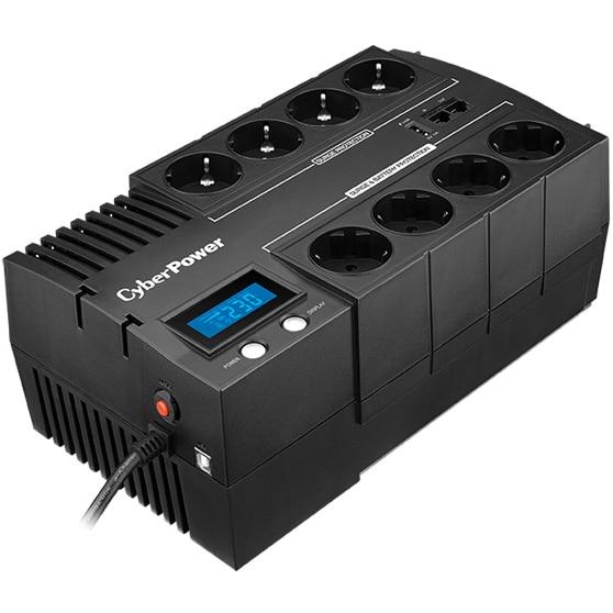 Fotografie UPS CyberPower BR1200ELCD, 1200VA, 720W, Display LCD, Schuko, USB, RJ11, RJ45, Line-interactive