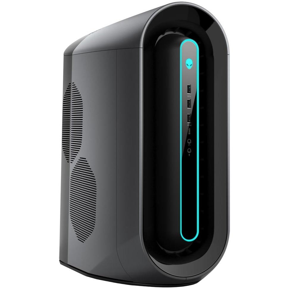 Fotografie Sistem Desktop PC Gaming Alienware Aurora R10 cu procesor AMD Ryzen™ 9 3950X pana la 4.70GHz, 32GB DDR4, 512GB SSD M.2 PCIe + 1TB HDD, Wi-Fi, NVIDIA GeForce RTX 3080 10GB GDDR6X, Microsoft Windows 10 Pro