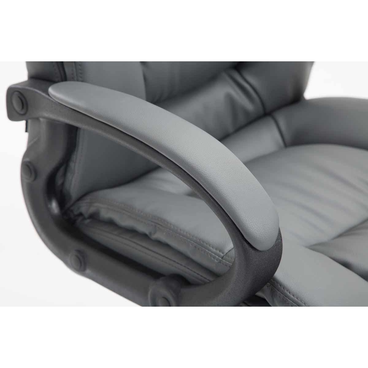 Sparta XL extra kényelmes főnöki szék (140 kg), műbőr, szürke eMAG.hu