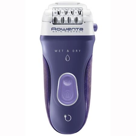 Епилатор Rowenta Skin Resprect EP8050F0, Wet&dry, Автономия 40 мин, Функция Dermo protect, 5 аксесоара, Лилав