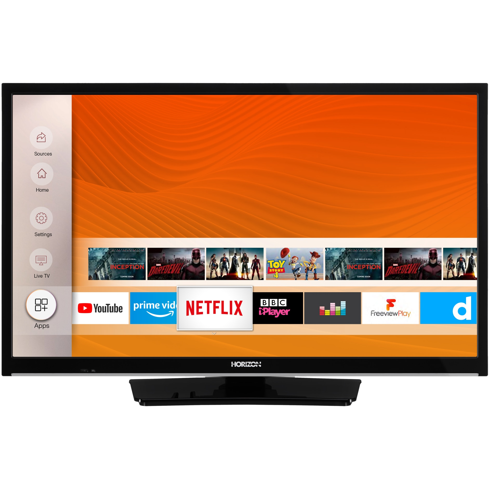Fotografie Televizor Horizon 24HL6130H, 60 cm, Smart, HD, LED, Clasa F