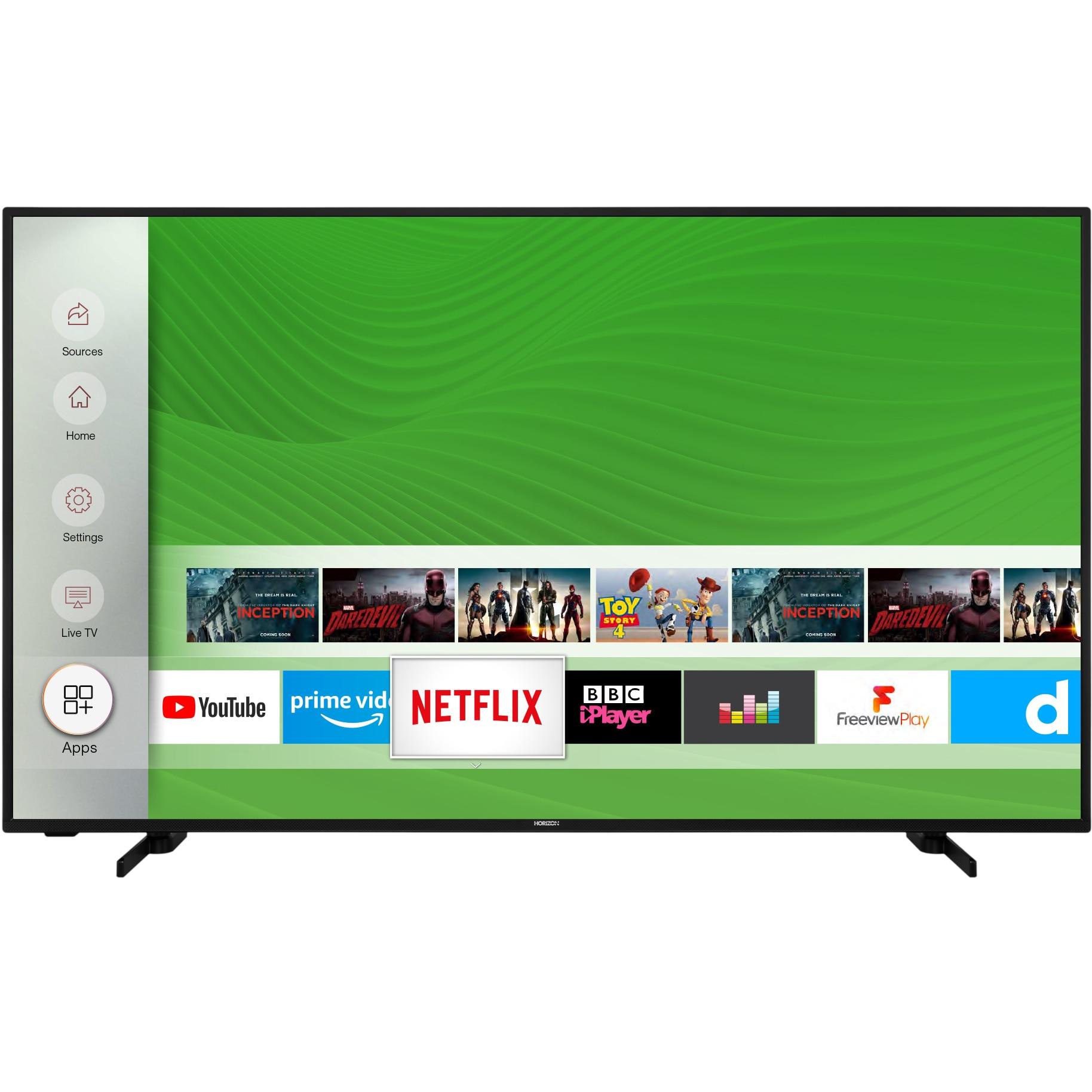 Fotografie Televizor Horizon 55HL7530U, 139 cm, Smart, 4K Ultra HD, LED, Clasa A+