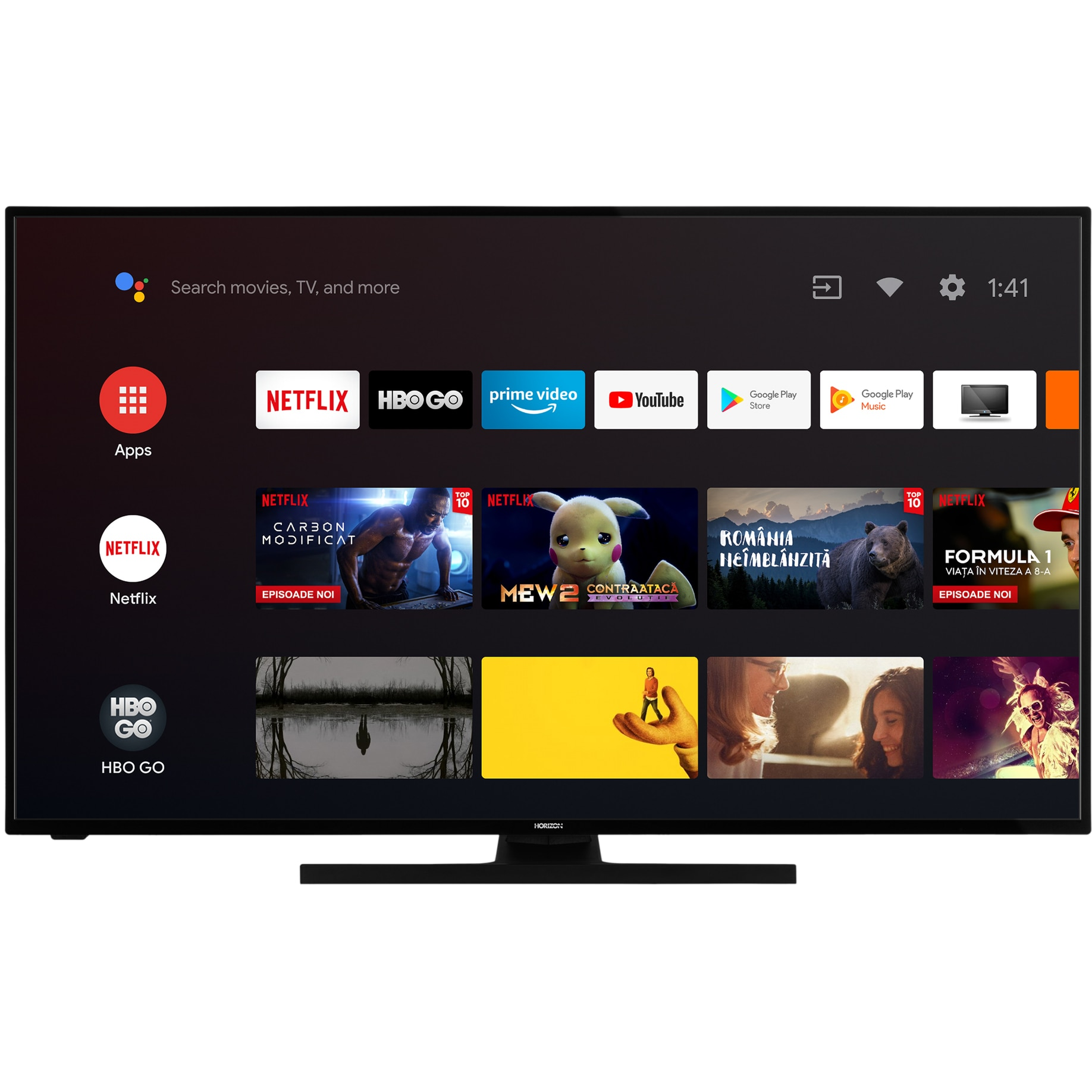 Fotografie Televizor Horizon 58HL7590U, 146 cm, Smart Android, 4K Ultra HD, LED