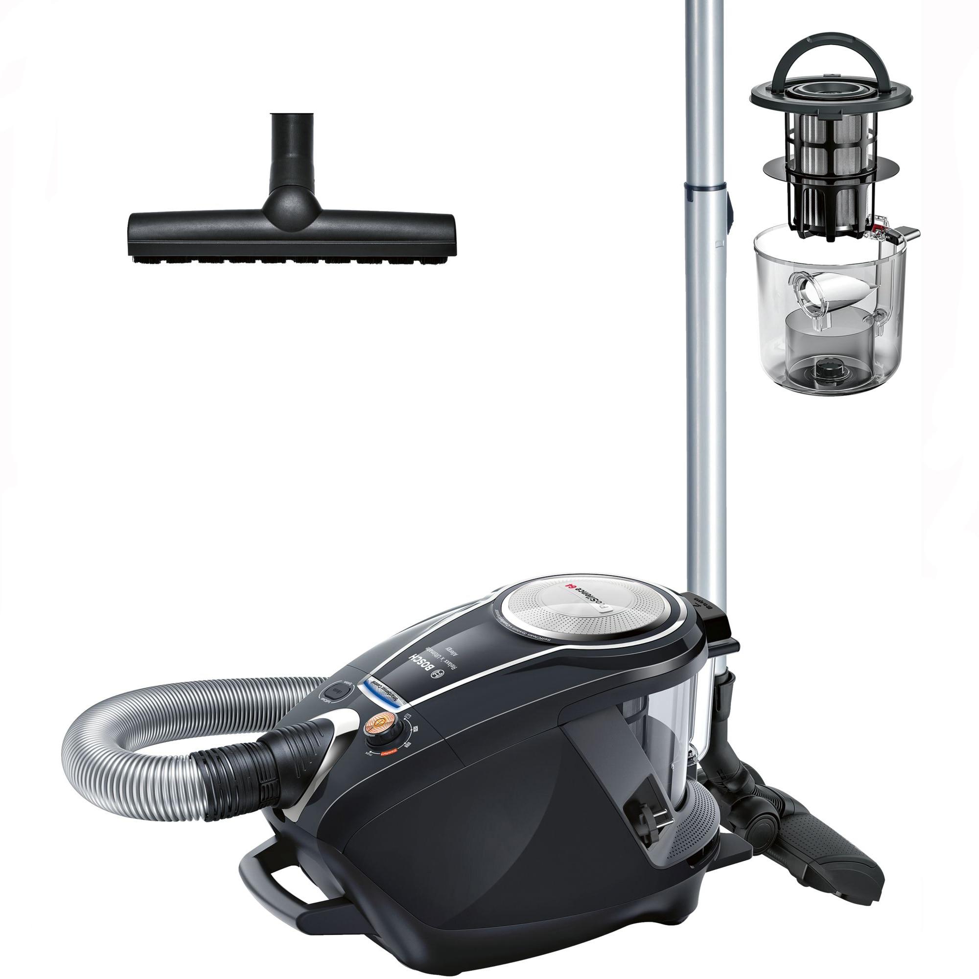 Fotografie Aspirator fara sac Bosch BGS7MS64, 3 l, 800 W, Filtru HEPA lavabil, Filtru Inteligent SelfClean System cu autocuratare, Smart Sensor Control Negru