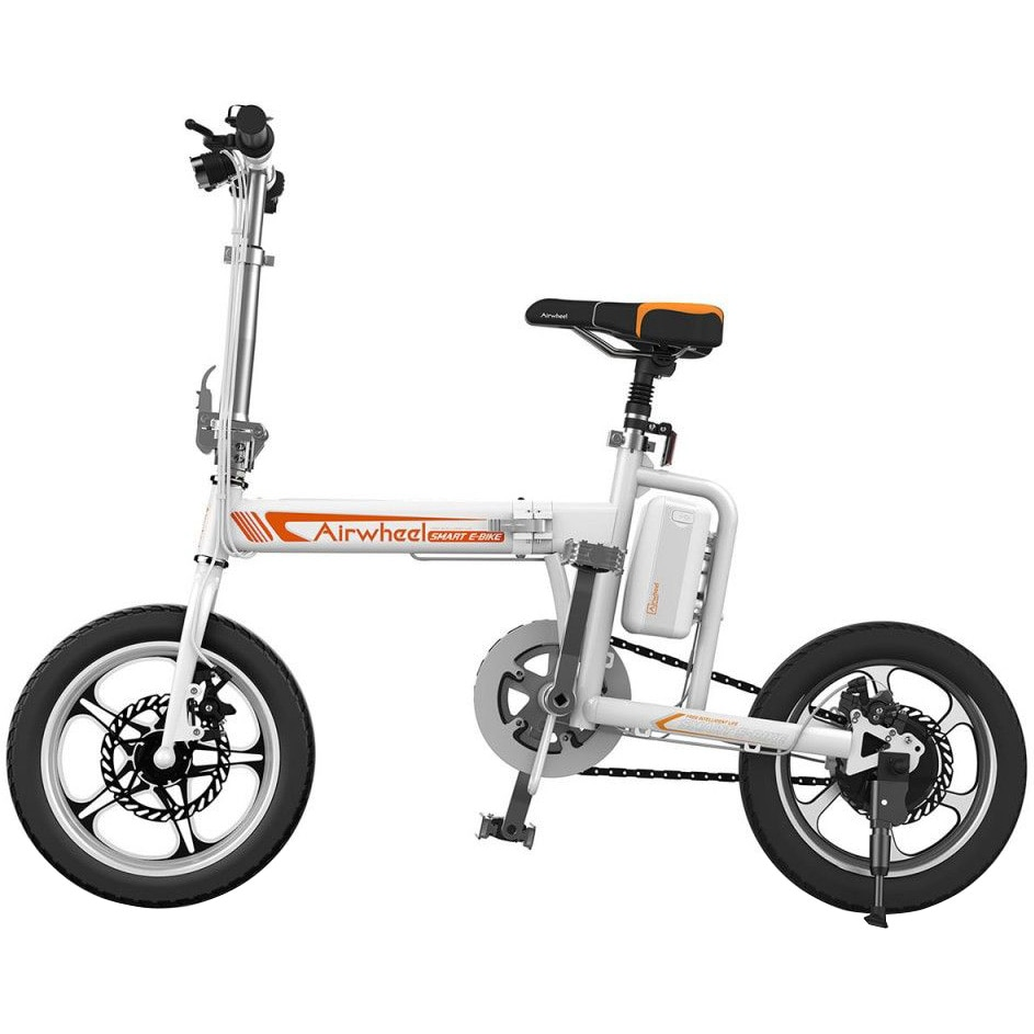 Fotografie Bicicleta electrica pliabila Airwheel R5 White , Viteza max. 20 km/h , Autonomia maxima: 15-25 km