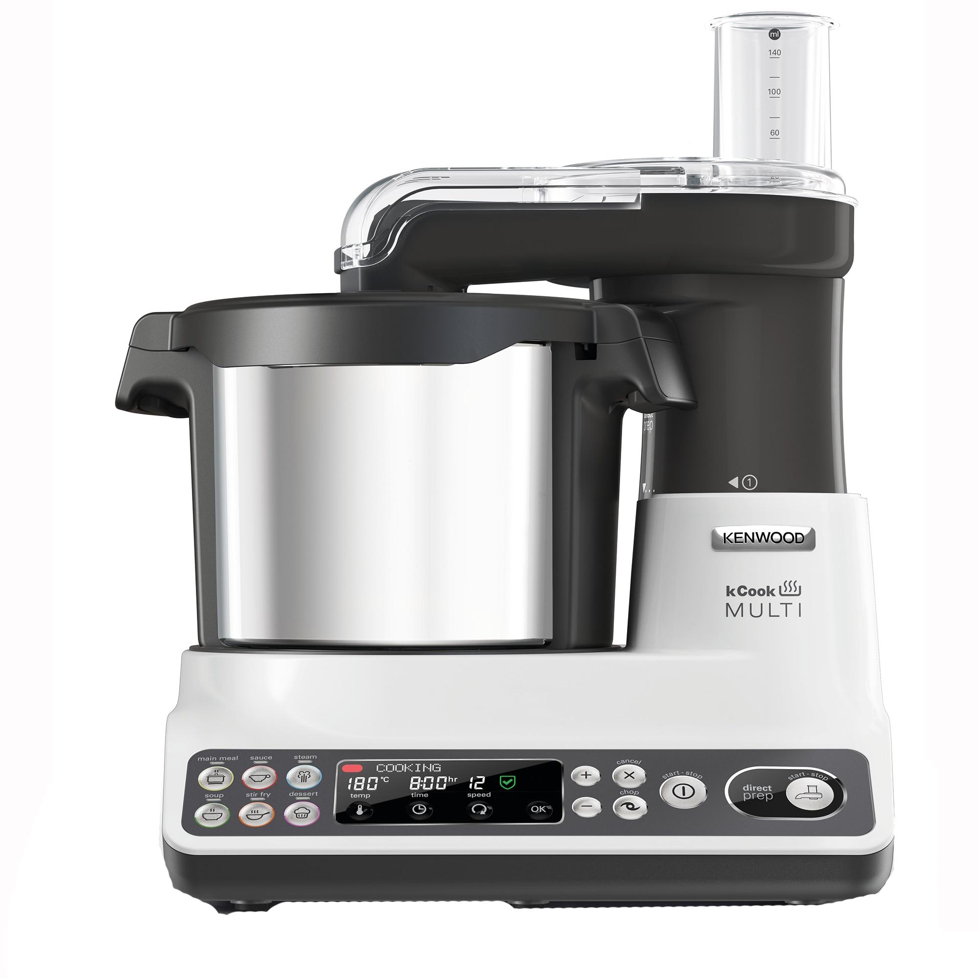 Fotografie Robot de bucatarie Kenwood kCook Multi Cooking CCL401WH, 1500W, 4.5L bol, 6 Functii, Aplicatie mobila, Alb-Gri