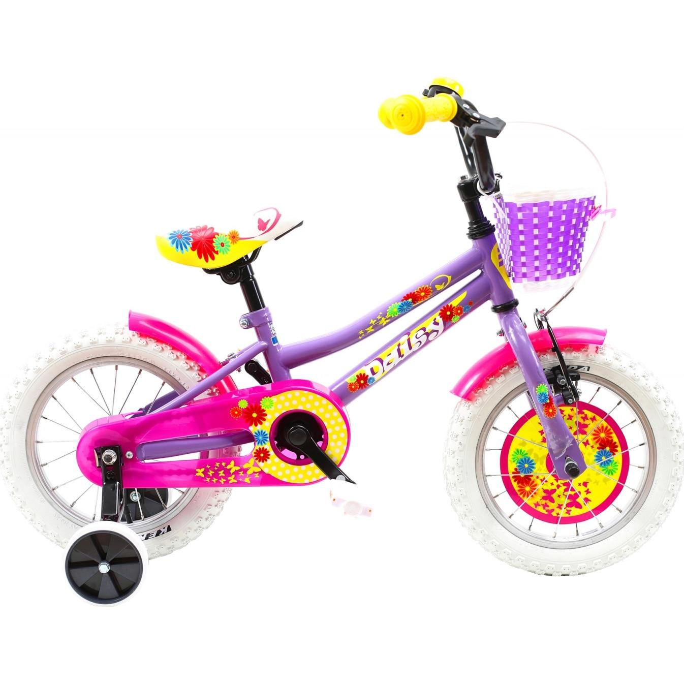 "Fotografie Bicicleta 14"" DHS 1402 pentru copii, Violet"