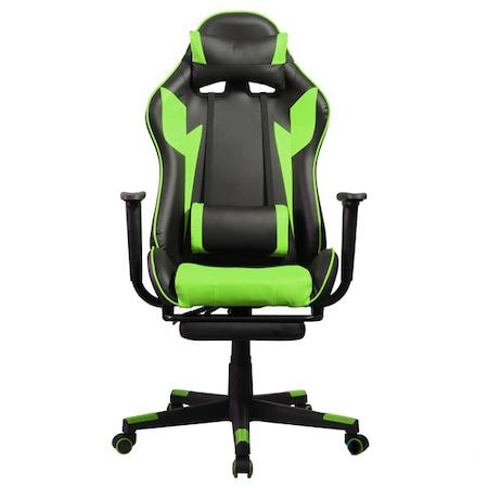 Iris GCH204BE_FT Gamer szék, Fekete/Zöld