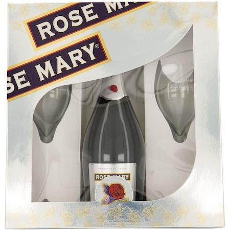Vin spumant Alb Rose Mary Demisec, 10.5%, 0.75L + 2 pahare