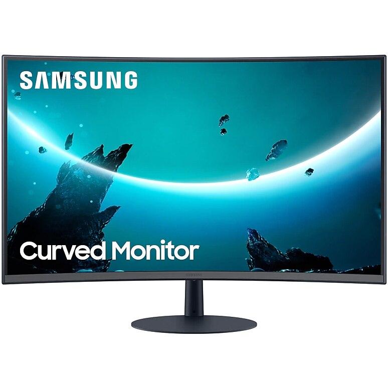 """Fotografie Monitor Curbat LED VA Samsung 23.6"""", Full HD, DisplayPort, FreeSync, Negru, LC24T550FDUXEN"""