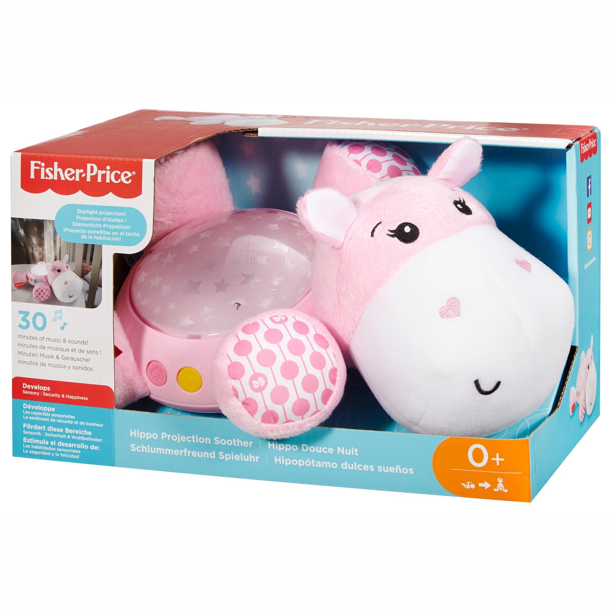 Fotografie Jucarie interactiva Fisher Price - Hipopotam cu sunete si proiector, roz