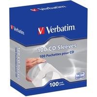 Verbatim 49976 papír, ablakos, öntapadó füllel fehér 100 db CD boríték