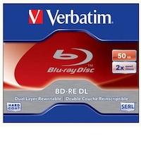 Verbatim kétrétegű, újraírható, 50GB, 2x, normál tok, BD-RE BluRay lemez