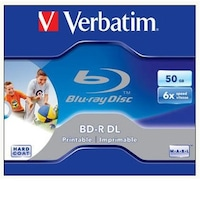 Verbatim kétrétegű, nyomtatható, 50GB, 6x, normál tok, BD-R BluRay lemez