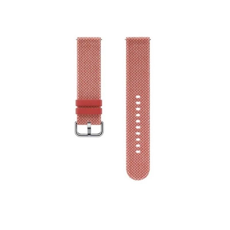 Fotografie Curea textila Samsung Kvadrat pentru Galaxy Watch Active 2 / Galaxy Watch (42mm) / Gear Sport Red