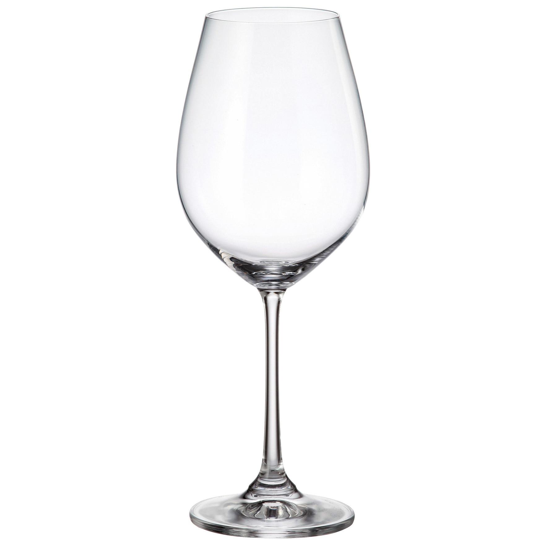 Fotografie Set 6 pahare vin Bohemia Columba, cristalin, 650 ml