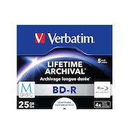 Verbatim archiváló, nyomtatható, M-DISC, 25GB, 4x, normál tok, BD-R BluRay lemez