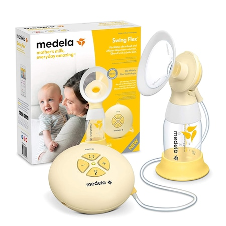Електрическа помпа за гърди Medela Swing Flex, Едностранна помпа, Жълт с Бяло