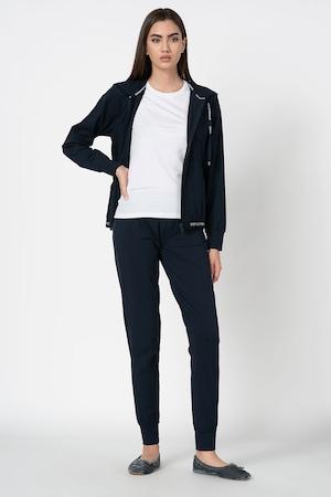 Emporio Armani Underwear, Дълга пижама с лого, Тъмносин / Бял, L