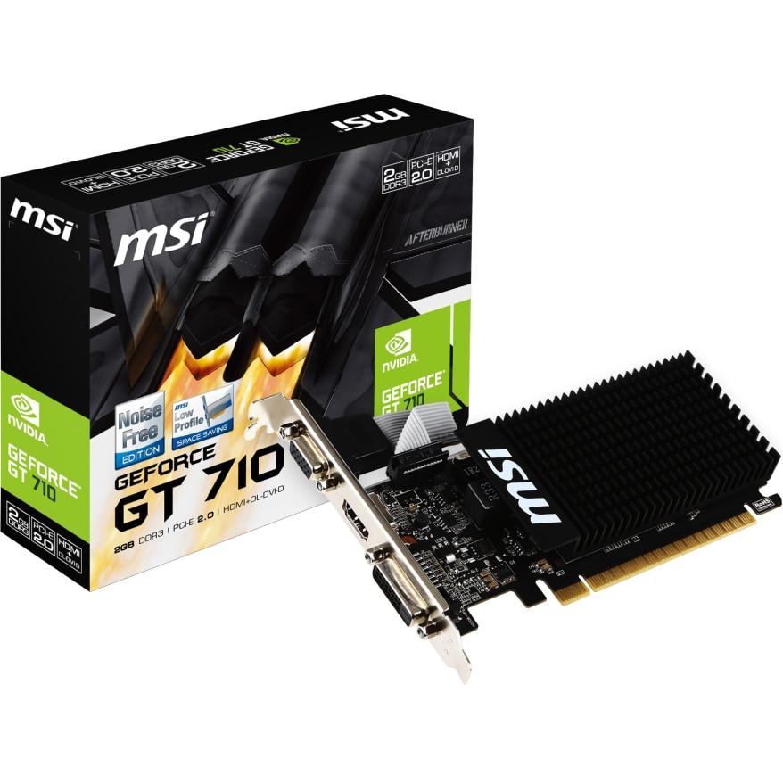 Fotografie Placa video MSI GeForce® GT 710, 2GB DDR3, 64-bit