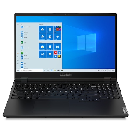 Лаптоп Lenovo Legion 5 15IMH05 с Intel Core i7-10750H (2.6/5GHz, 12M), 16 GB, 512GB M.2 NVMe SSD, NVIDIA GTX 1650 4GB GDDR6, Windows 10 Pro 64-bit, черен