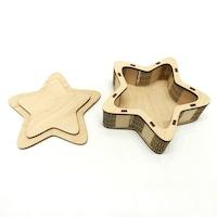 Дървена кутия звезда