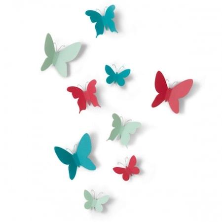 Mariposa faldekoráció színes