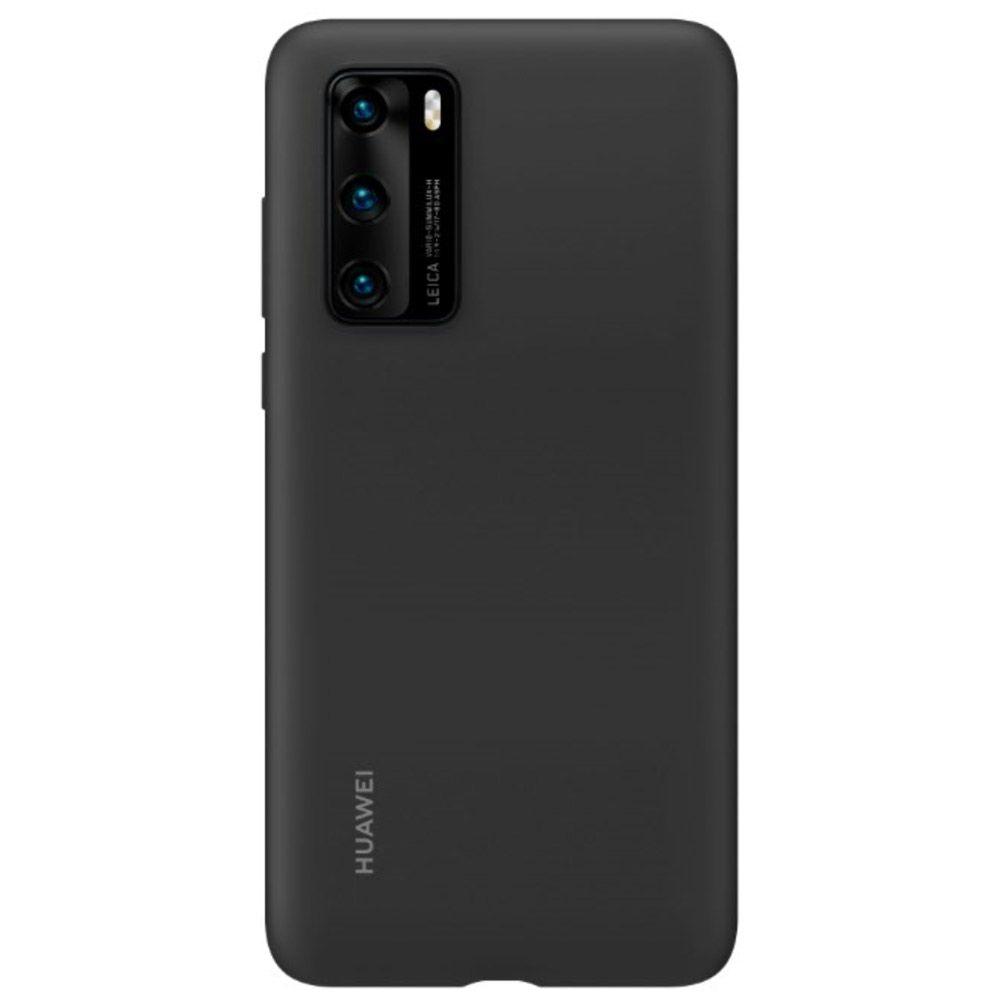 Fotografie Husa de protectie Huawei Silicone pentru P40, Black