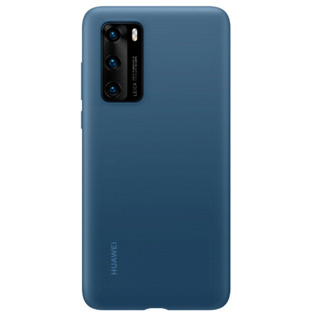 Fotografie Husa de protectie Huawei Silicone pentru P40, Ink Blue