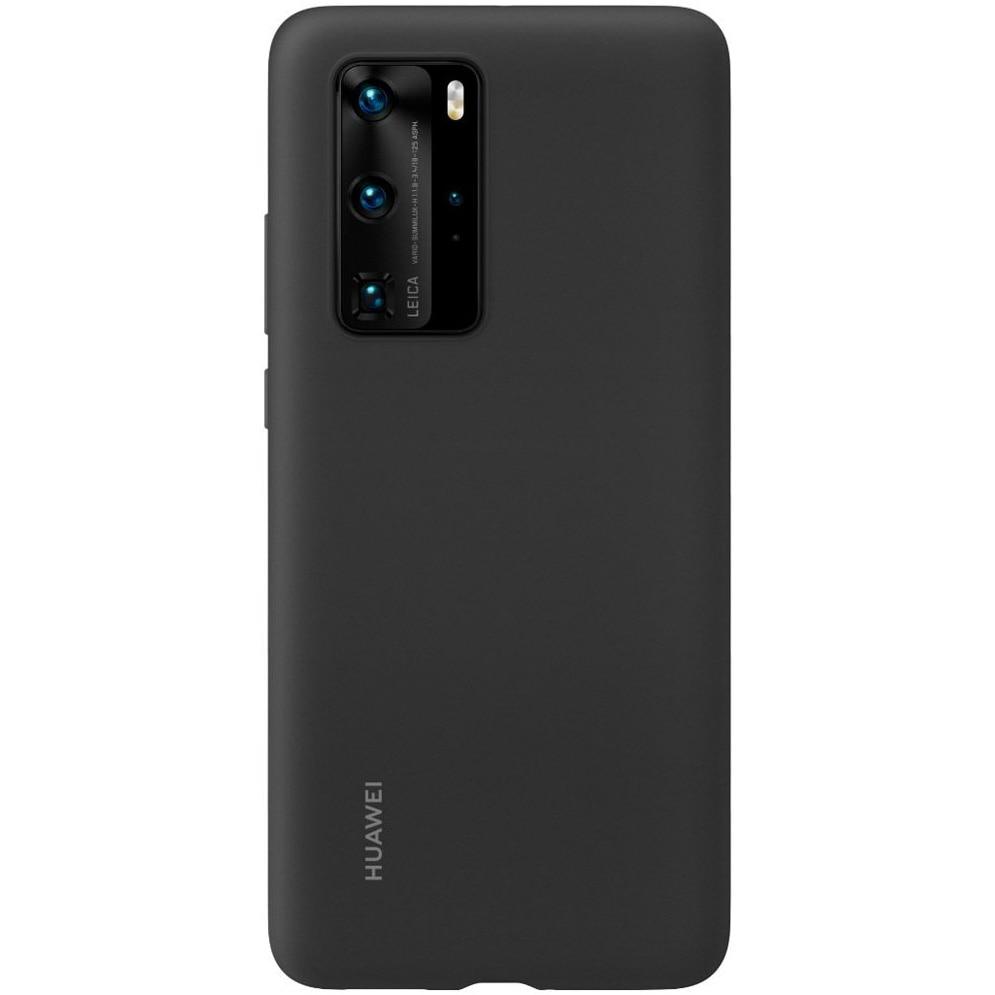 Fotografie Husa de protectie Huawei Silicone pentru P40 Pro, Black