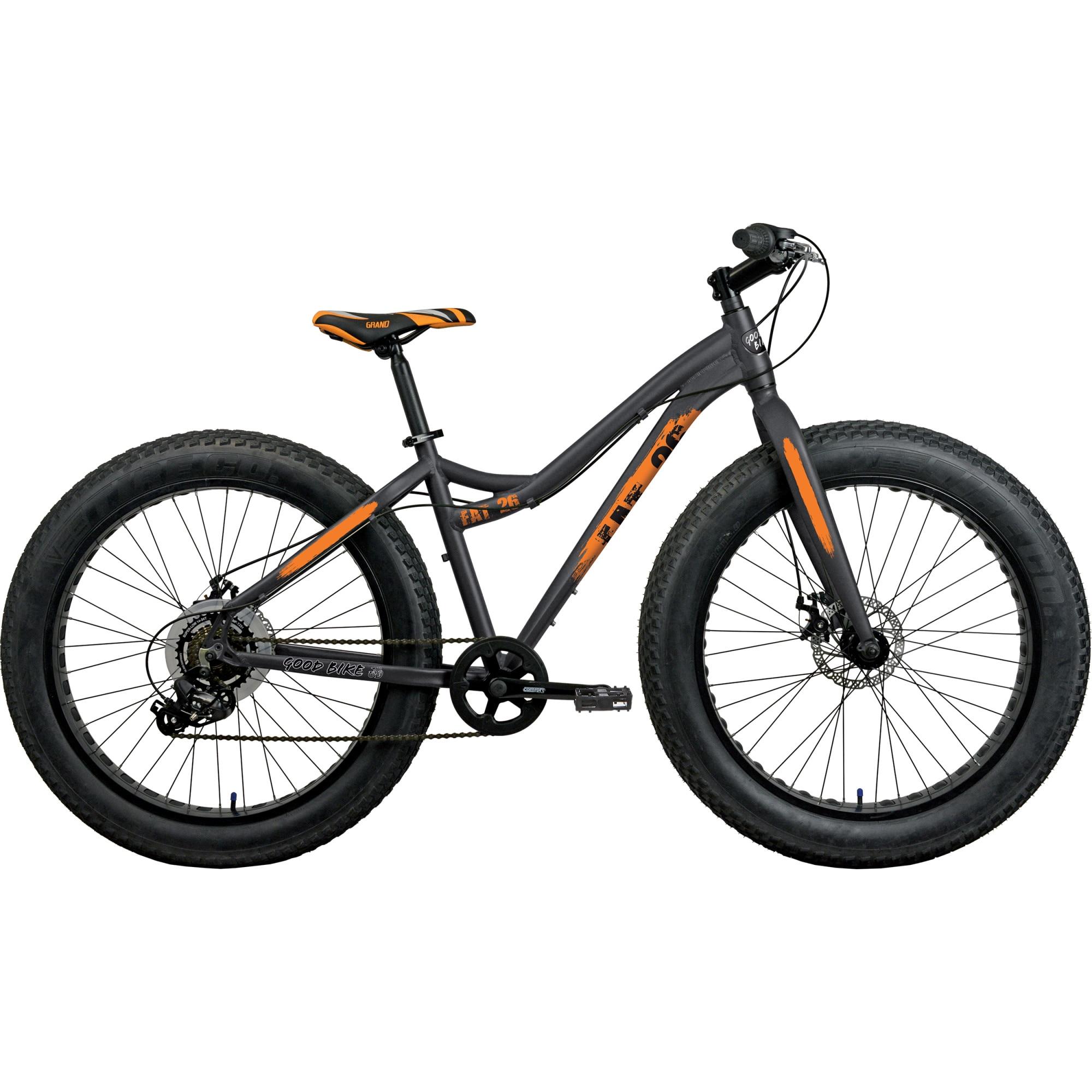 "Fotografie Fat Bike 26"" Good Bike Panzer, Black/Orange, 48cm"