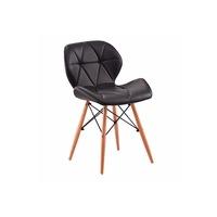 4 DB étkező - konyhai szék Milo műbőr huzattal - fekete