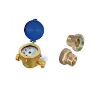 Водомер Gioanola, 1/2'', Студена вода, Комбиниран - мокър и сух, 3 куб.м/час, С холендри