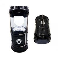 Сгъваем соларен LED фенер Automat, USB изход, 12 х 8 см. , черен